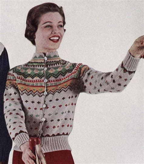 knitting pattern vintage cardigan pattern vintage ski lodge button down cardigan sweater to