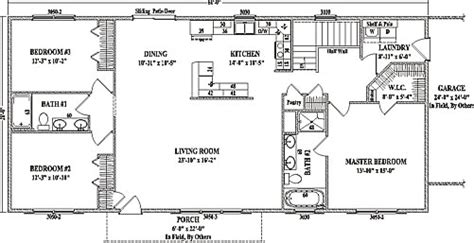 ranch floor plans open concept jamestown iv by wardcraft homes ranch floorplan