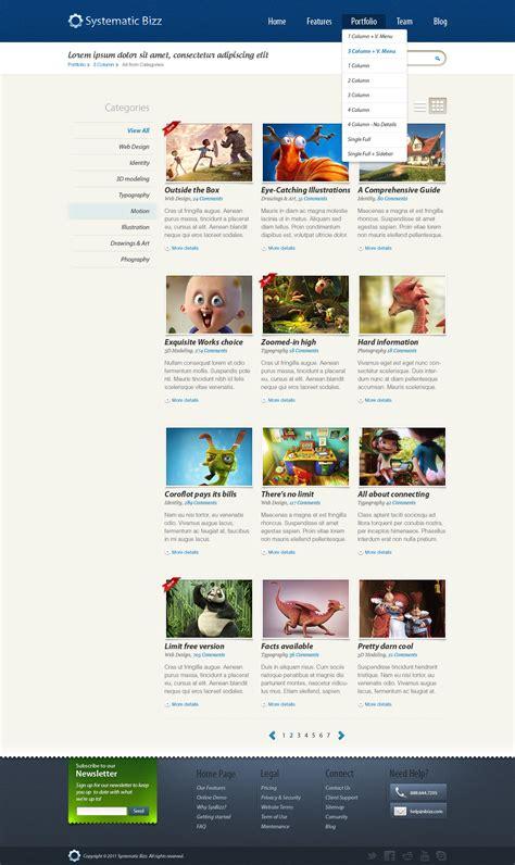stron biz wordpress psd templates