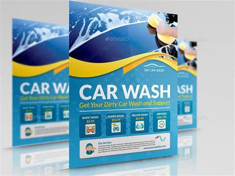 car wash services advertising bundle template by