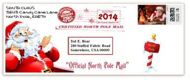 Santa in pdf format version of letters mailed from north pole