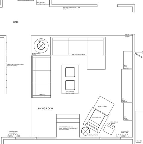 draw room layout room blueprint modern house