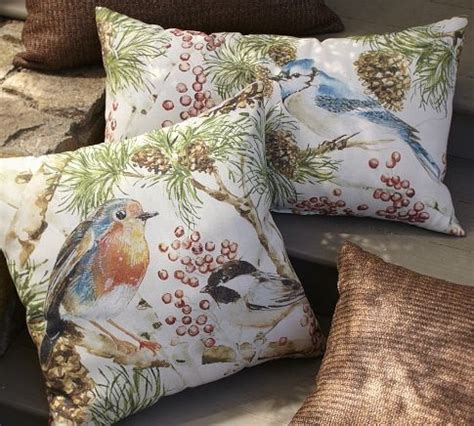 winter bird outdoor pillows williams sonoma for the