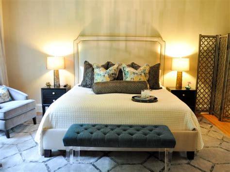 transitional bedrooms boutique bedroom makeover evaru design hgtv