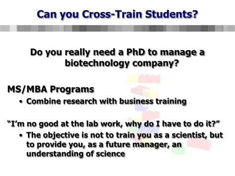 Mba Ms In Biotechnology by Educating The Next Generation Of Biotechnology Managers