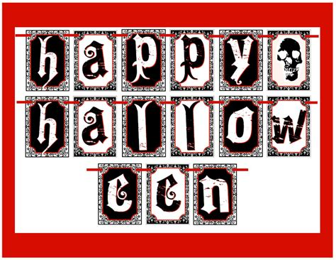 printable halloween birthday banner free creepy halloween printables catch my party