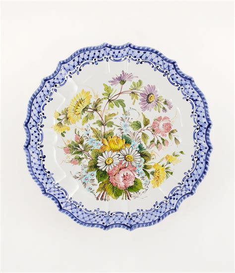 piatti fiori piatto a fiori sfumati diametro cm35 1 piatto in ceramica