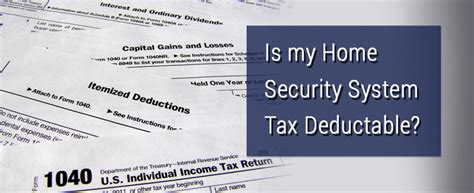 is my home security system tax deductible