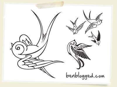 old school swallow tattoo designs on koi swallows and anchor tattoos