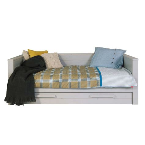 cadre de lit 1 place banquette en bois fsc denis drawer fr