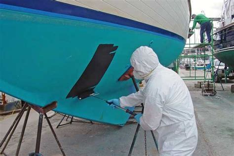 how to spray paint a fiberglass boat how long does boat bottom paint last boatus magazine