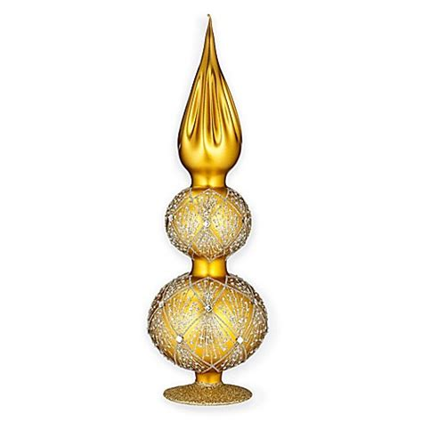 waterford christmas topper waterford 174 heirlooms nostalgic tree topper in gold bed bath beyond