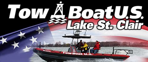 tow boat us logo tow boatus lake st clair lake st clair guide