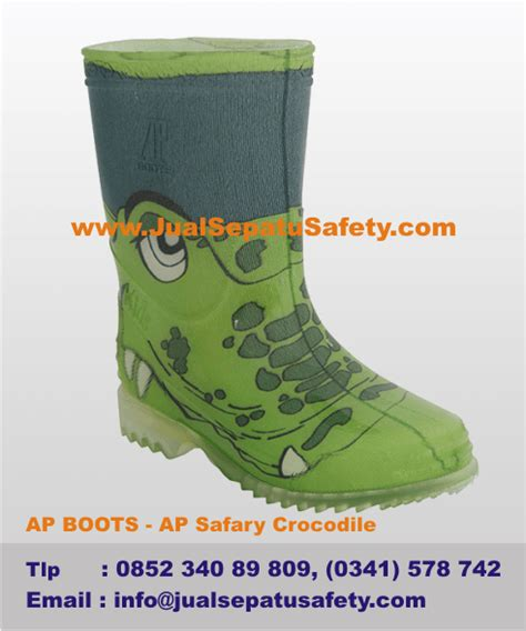 Harga Sepatu Boot Karet Warna Hijau harga sepatu boots anak gambar buaya warna hijau asli