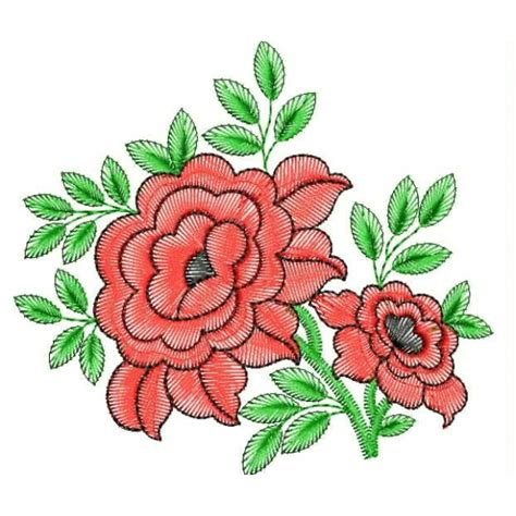 embroidery design video red rose embroidery design
