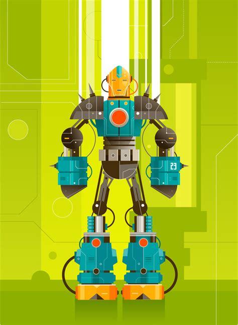 vector robot tutorial light up your retina with 40 raging vector robots