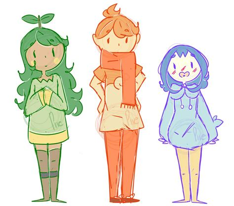 doodle starters doodle sinnoh starters as by qmbied on deviantart
