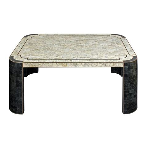 chic coffee table in tessellated by maitland smith
