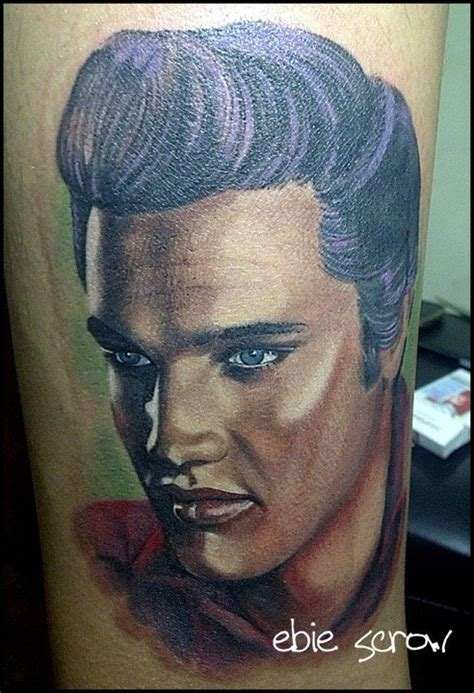 elvis presley tattoo by scrowlightskincutom on deviantart
