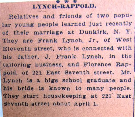 Erie Pa Marriage Records Ancestors Of Francis Edward Frank E Lynch