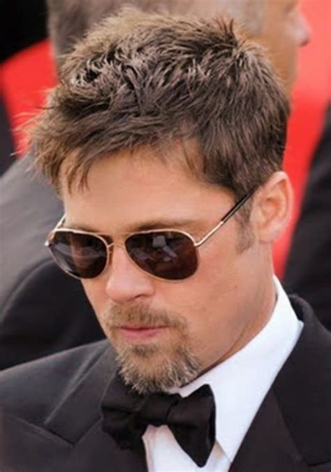 brad pitt short hairstyles for men popular razor cut hairstyles for men with pictures