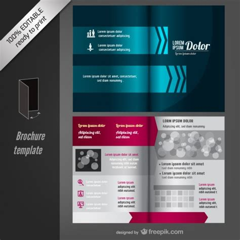 vector editable brochure template vector free download