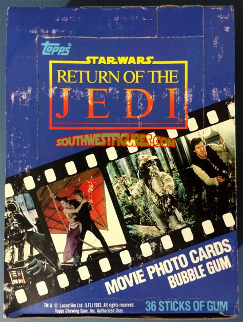 Returning Items Purchased With Gift Card - star wars vintage topps trading cards return of the jedi 1983