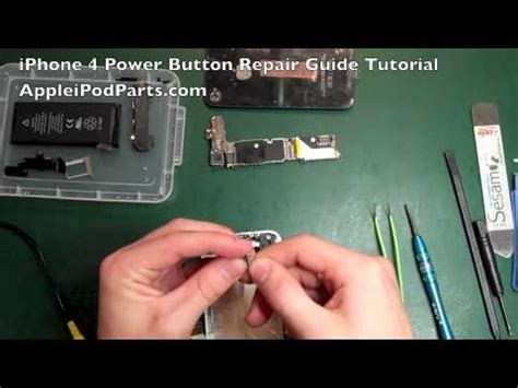 Iphone Q Key Not Working Iphone 4 Power Button Repair Not Replacement Guide Tutorial Appleipodparts