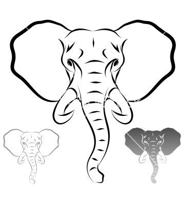 african elephant outline tattoo pinterest images of african elephant head silhouette www pixshark com