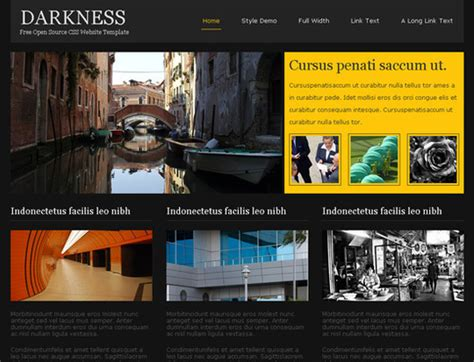 45 Free And High Quality X Html Css Website Templates Smashingapps Com Css Website Templates