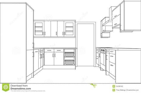 騅iers de cuisine en r駸ine retrait d une cuisine adapt 233 e photographie stock image