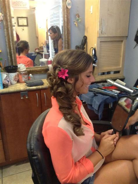 hair style maid of honour side of maid of honor hair done by jessie miller at angel