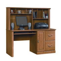 Sauder Orchard Small Wood Computer Desk With Hutch In Oak Sauder Orchard Computer Desk With Hutch Reviews