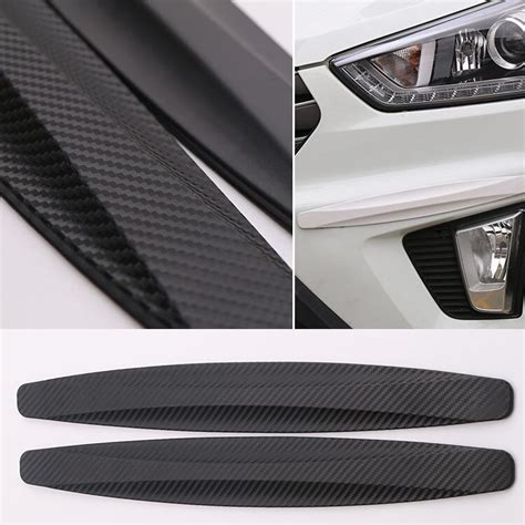 2pcs Car Front Rear Edge Bumper Corner Guard Scratch Protection Decora 2pcs car auto suv front rear bumper rubber protector guard corner crash bar trim