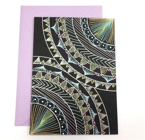 Handmade Mandala - mandala greeting card and envelope handmade card