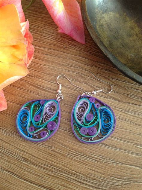 Paper Craft Paper Quilling Handmade Jewelry Earrings - 412 best quilling jewelry images on