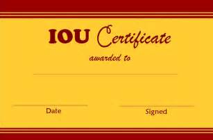 iou certificate template select and print iou certificates and cards fresh designs