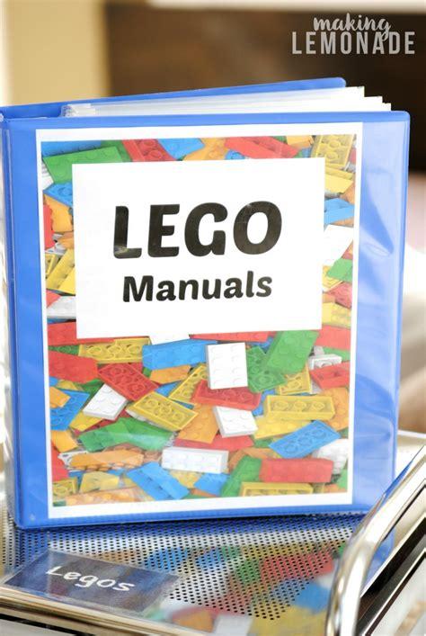 organize or organise how to organize lego manuals free lego printables