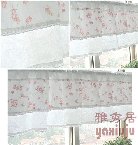 country curtains free shipping aliexpress com buy free shipping cotton lace pink floral