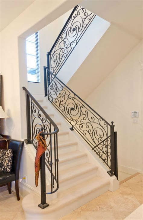 Iron Grill Design For Stairs Modern Stair Grill Designs For Home Interior Trends4us