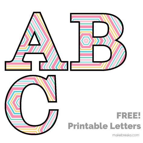 free printable alphabet letters free printable letters numbers archives make breaks 1252