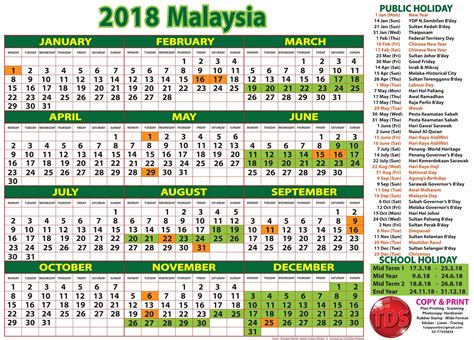 september 2017 calendar with holidays malaysia