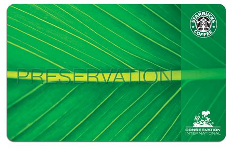 Starbucks Gift Cards International - starbucks and conservation international