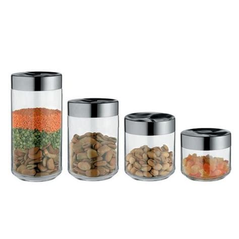 alessi julieta glass storage jars available in four