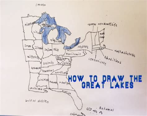 how to draw the usa map how to draw a map of the great lakes with a few of the usa