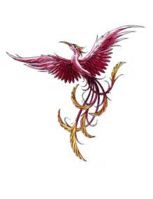 long tail phoenix tattoo free design ideas