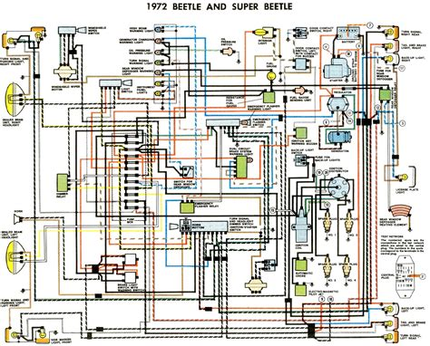 vw beetle wiring diagram 1974 1961 vw bug wiring diagram