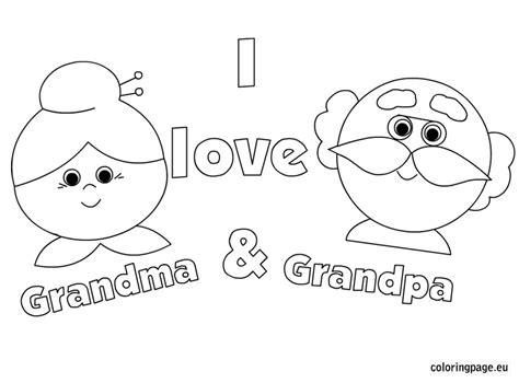 i love you grandpa coloring pages grandparent s day coloring page