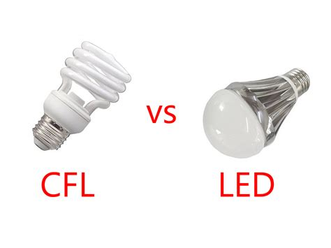 Compact Fluorescent Light Bulbs Vs Led Difference Between Led Lights Vs Incandescent Light Bulbs Vs Cfls