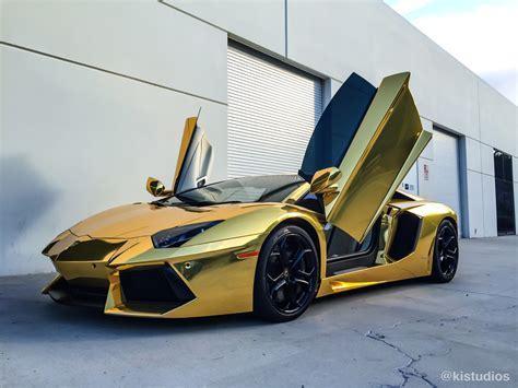 Gold Lamborghini Aventador   KI Studios